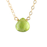 Single Stone Briolette Gemstone Necklace - Click for Additional Gemstone Options