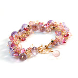 PINK SAPPHIRE, TOURMALINE AMETHYST, TOPAZ AND YELLOW SAPPHIRE BRACELET