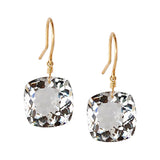 WHITE TOPAZ CUSHION CUT SOLITAIRE EARRINGS
