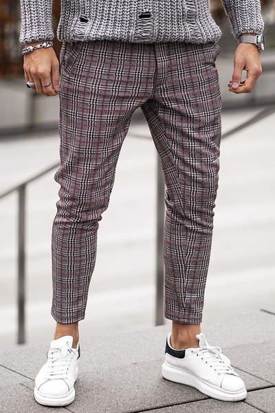 Luca Checkered Pants Black White Red