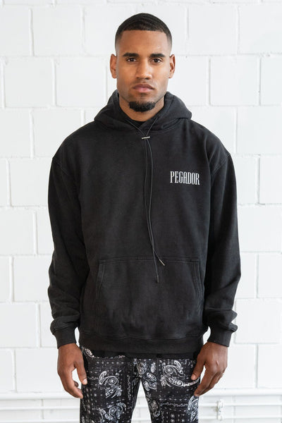 Mum Oversized Hoodie Washed Black