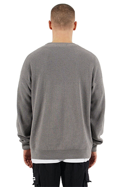 Milan Oversize Knit Sweater Grey - PEGADOR - Dominate the Hype