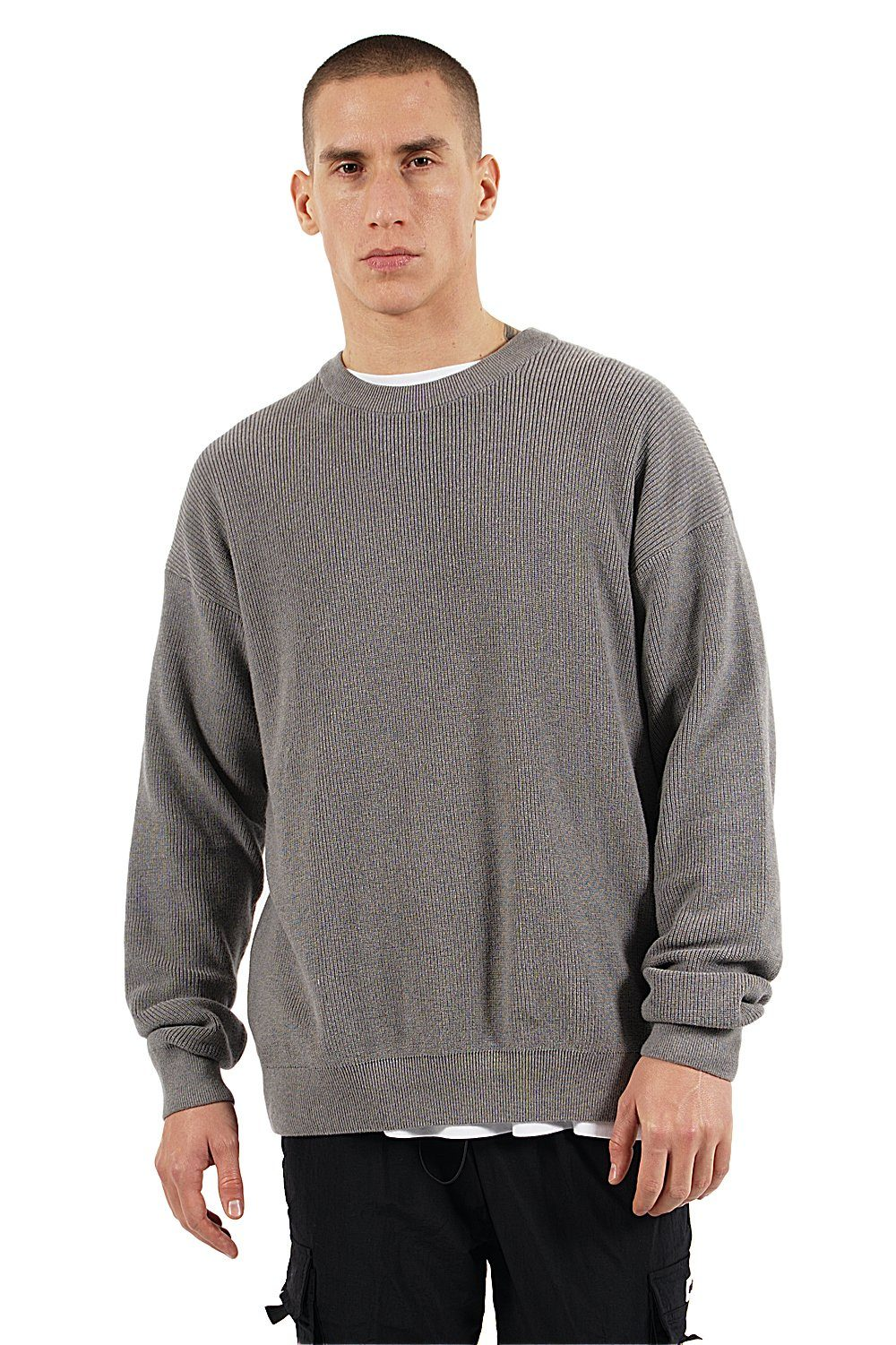 Milan Oversize Knit Sweater Grey SWEATER PEGADOR
