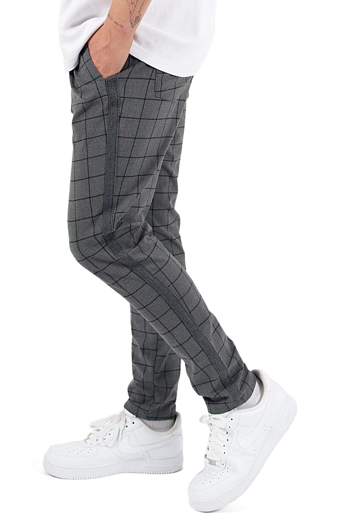Vigo Squared Pants Dark Grey PANTS PEGADOR