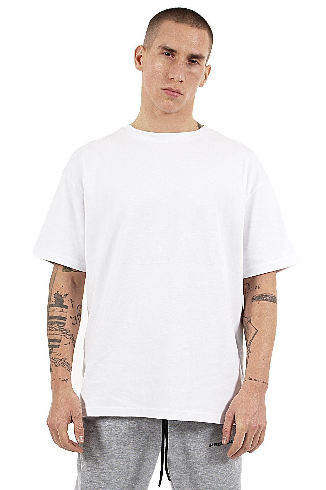 Heavy Oversized Basic Tee White T-SHIRT PEGADOR