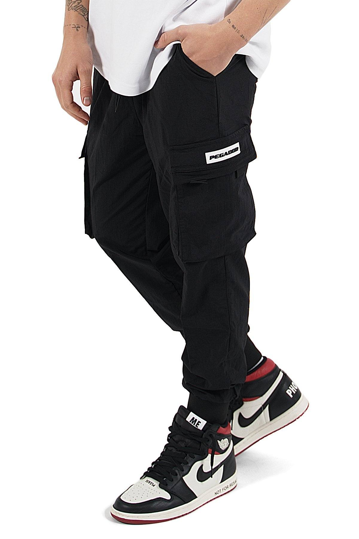 Reno Woven Cargo Pants Black - PEGADOR - Dominate the Hype