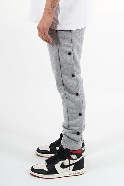 Waco Button Sweat Pants Melange Grey - PEGADOR - Dominate the Hype