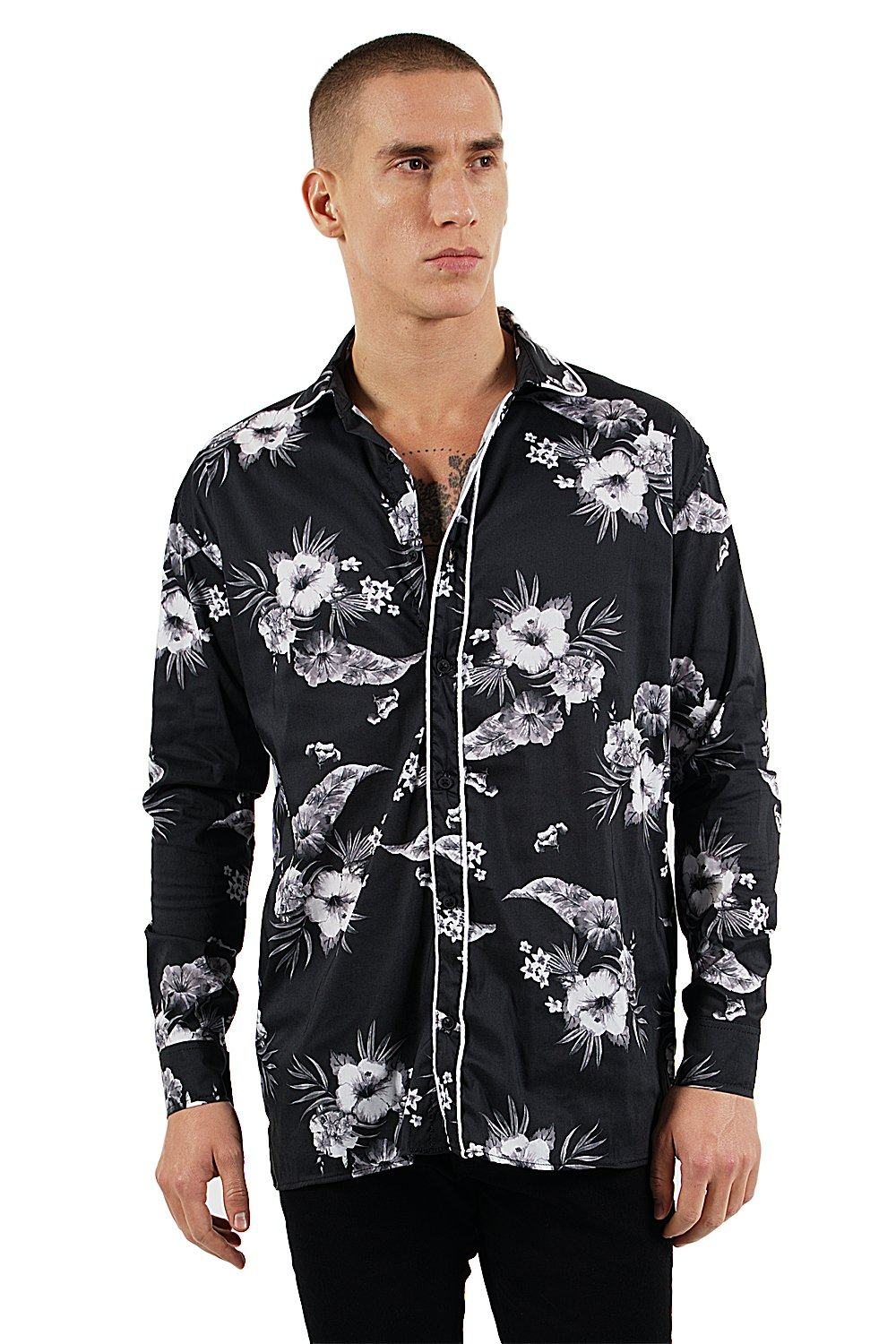 Dijon Flower Shirt Black
