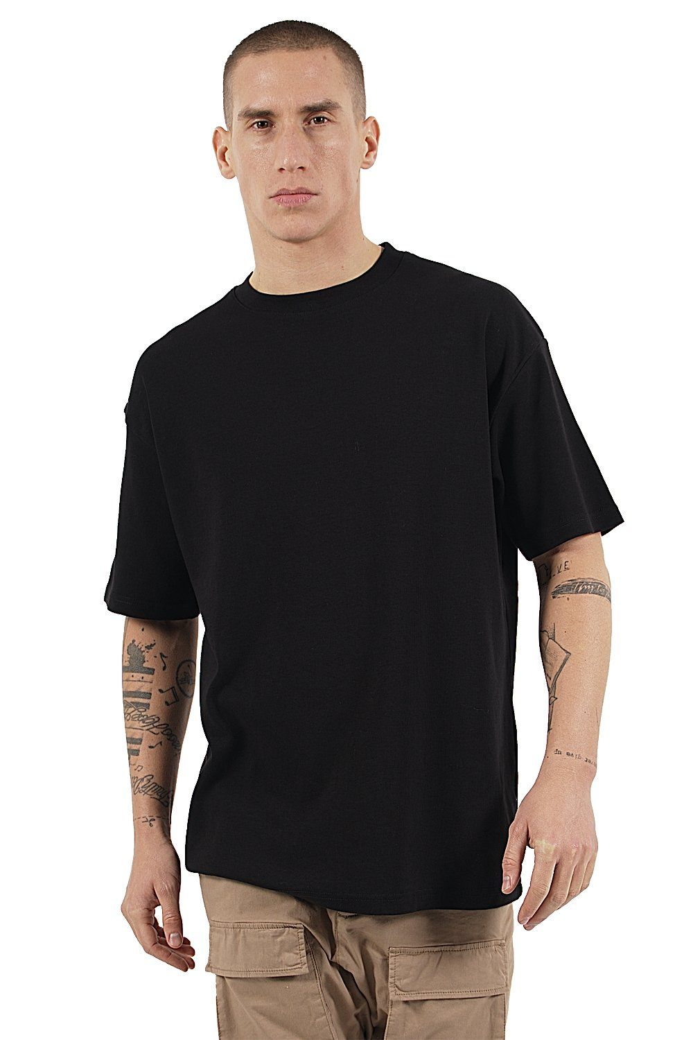 Heavy Oversized Basic Tee Black T-SHIRT PEGADOR
