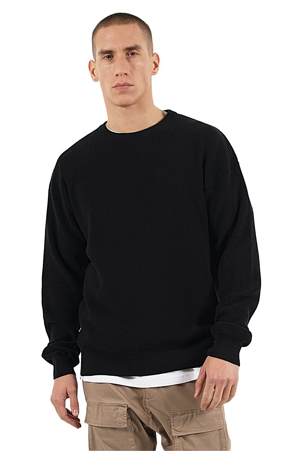 Milan Oversize Knit Sweater Black