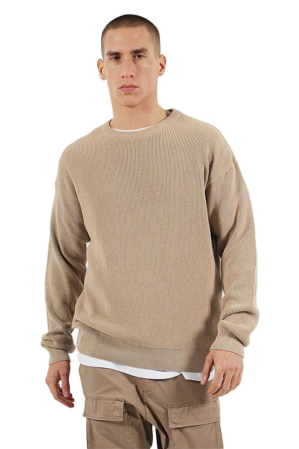 Milan Oversize Knit Sweater Beige - PEGADOR - Dominate the Hype