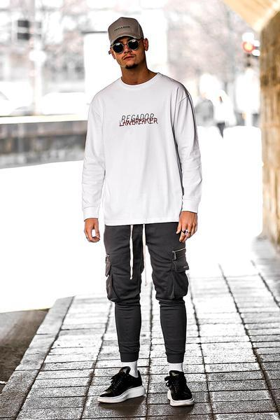 Roy Lawbreaker Longsleeve White - PEGADOR - Dominate the Hype