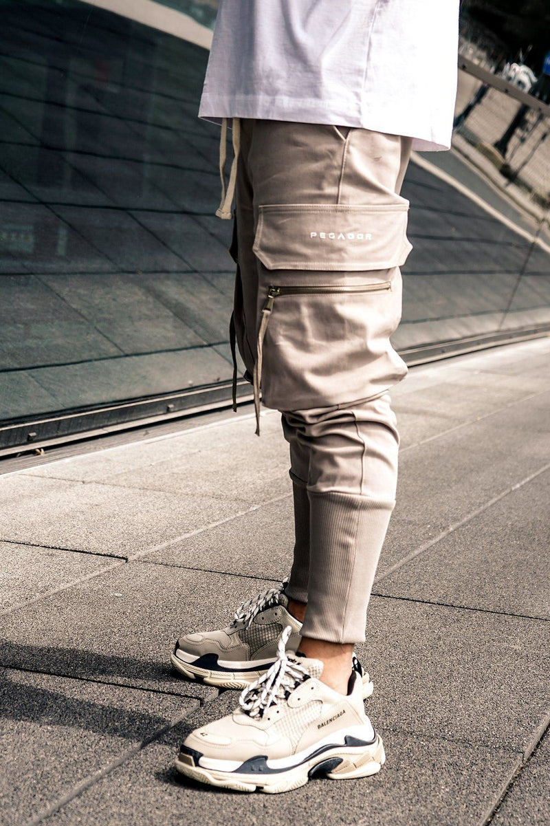 Ken Cargo Pants Almond - PEGADOR - Dominate the Hype