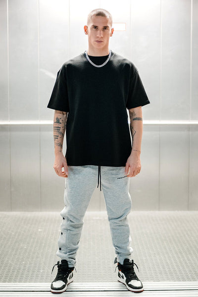Heavy Oversized Basic Tee Black - PEGADOR - Dominate the Hype