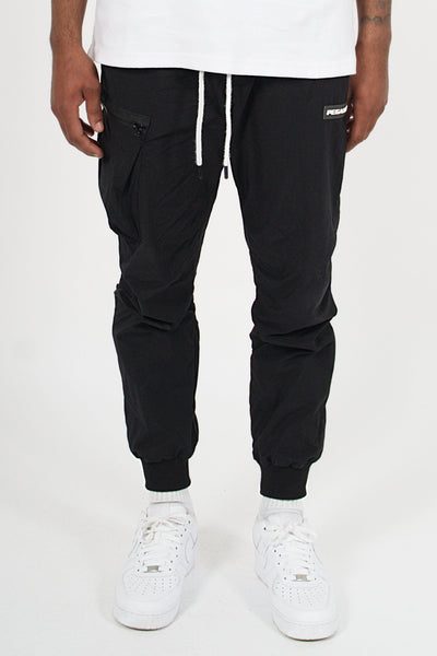 Cuba Woven Cargo Pants Black - PEGADOR - Dominate the Hype