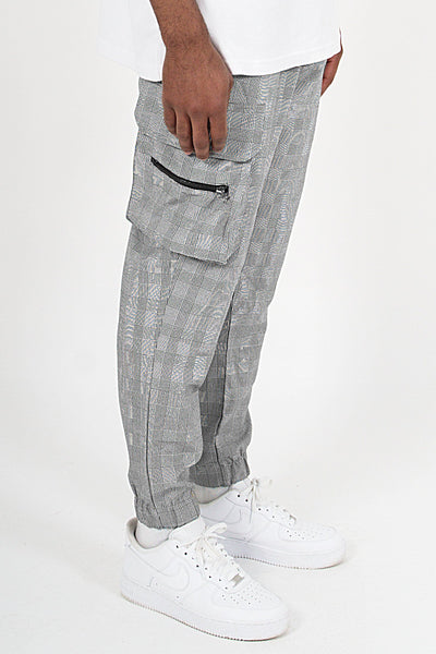 Gastre Checkered Cargo Pants Black White - PEGADOR - Dominate the Hype