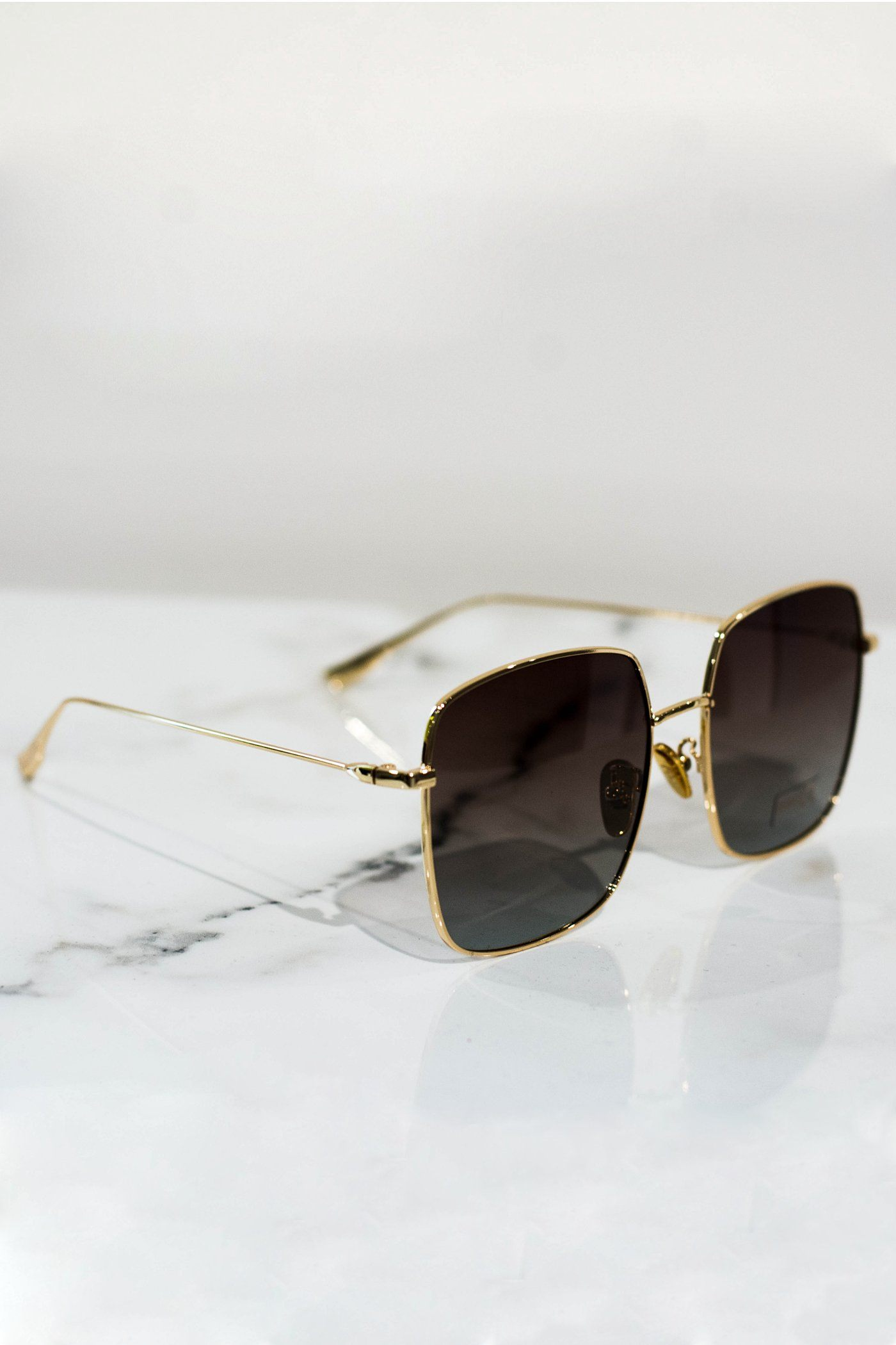 Squared sunglasses gold With brown lens - PEGADOR - Dominate the Hype