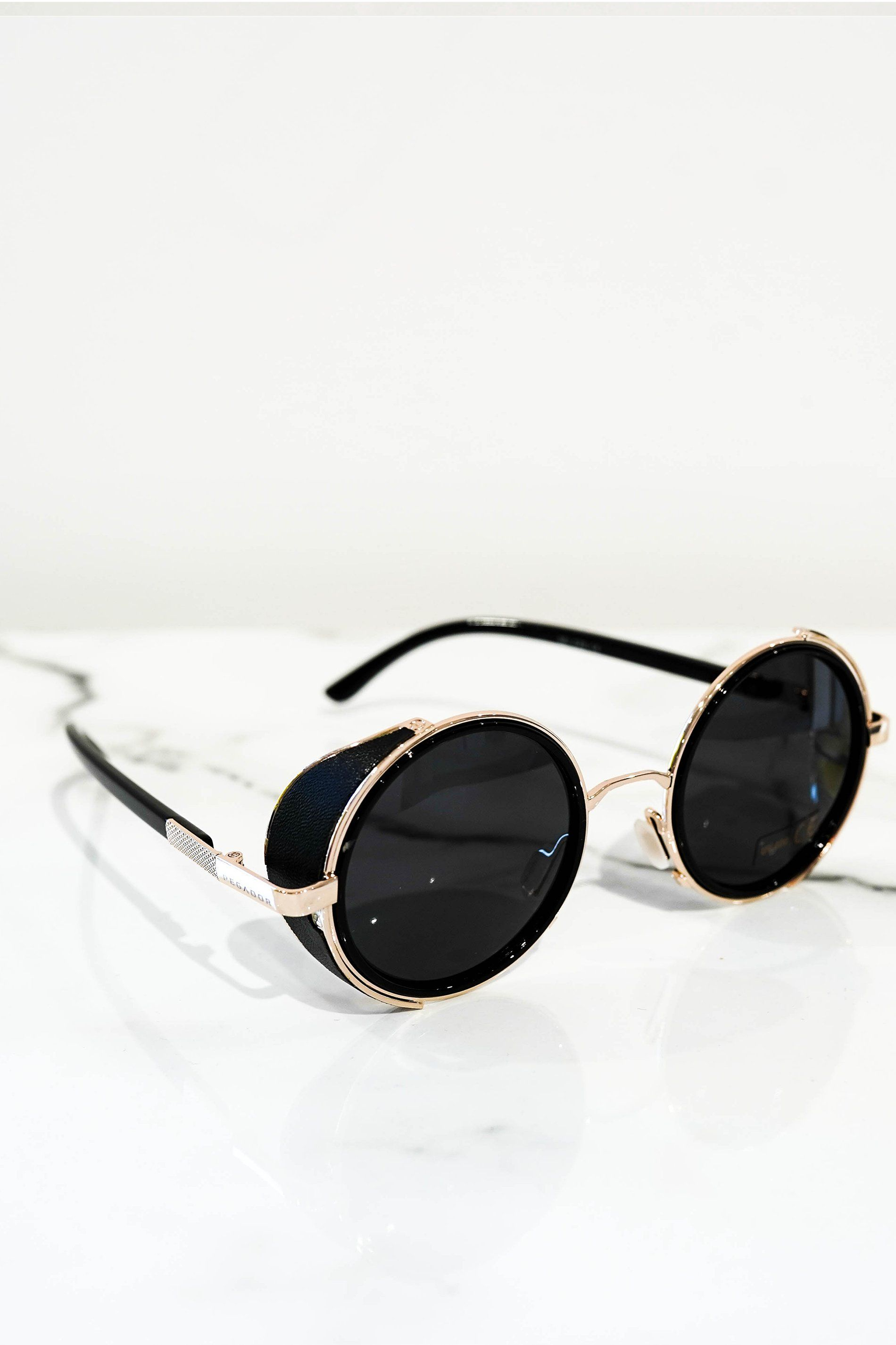 Steampunk sunglasses gold With dark lens - PEGADOR - Dominate the Hype