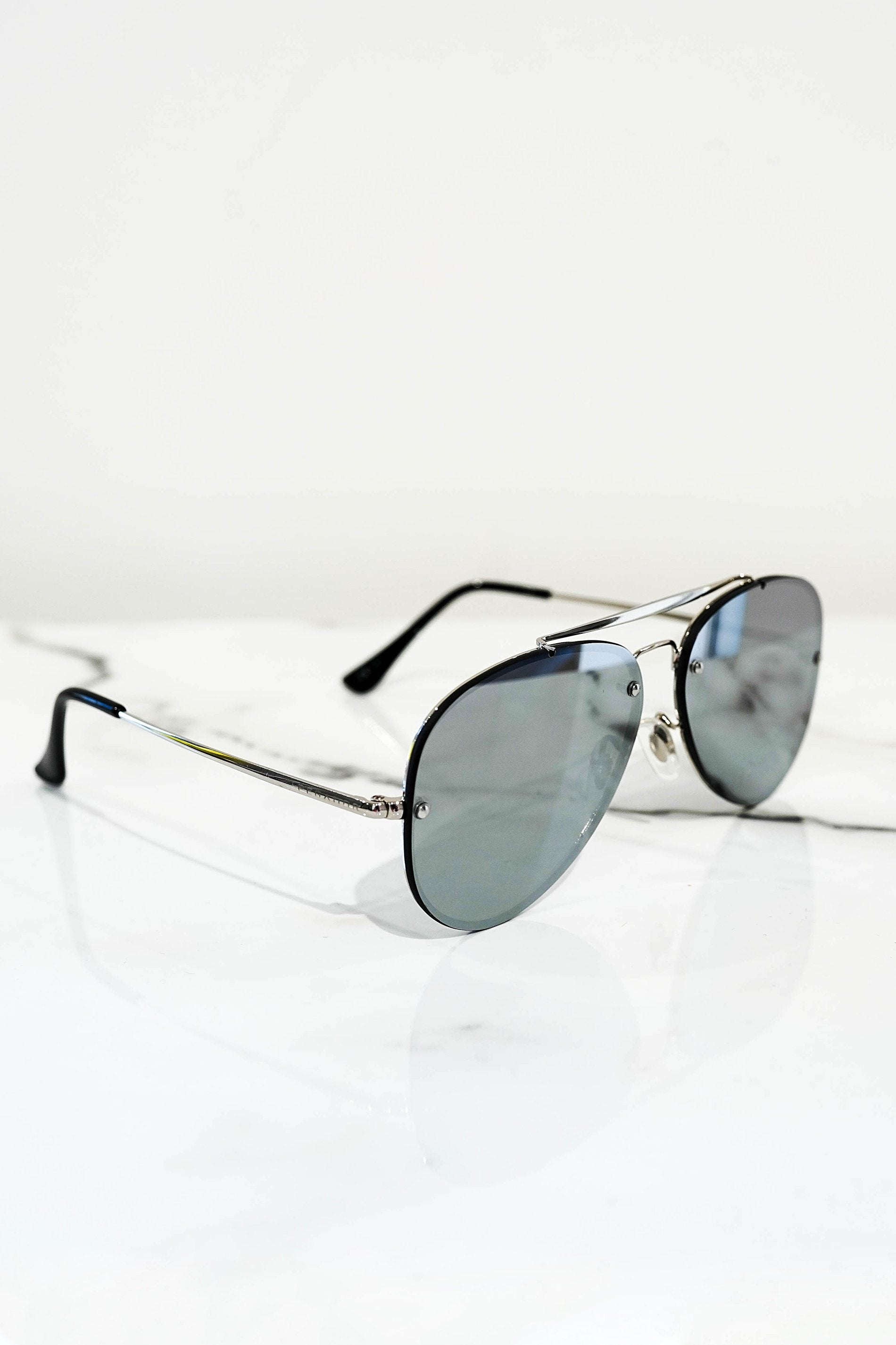 Aviator sunglasses Silver With mirrored lens - PEGADOR - Dominate the Hype