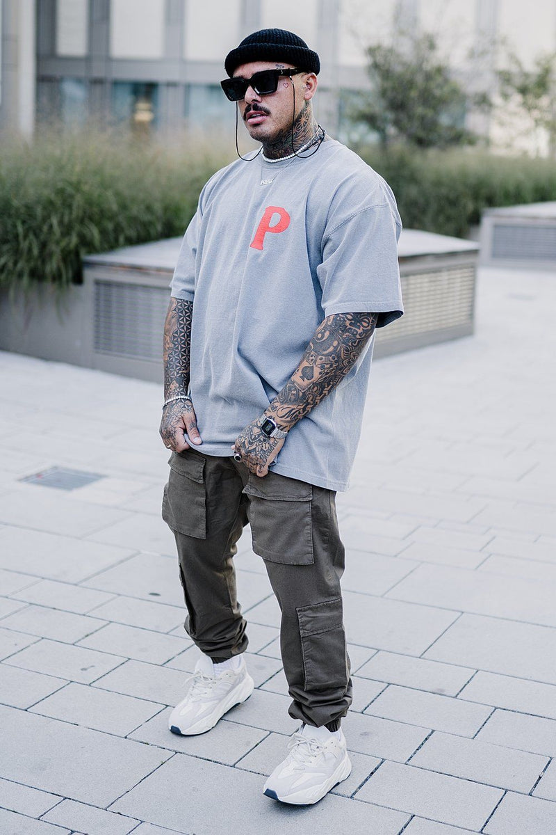 Asti Crew Oversized Tee Washed Grey - PEGADOR - Dominate the Hype