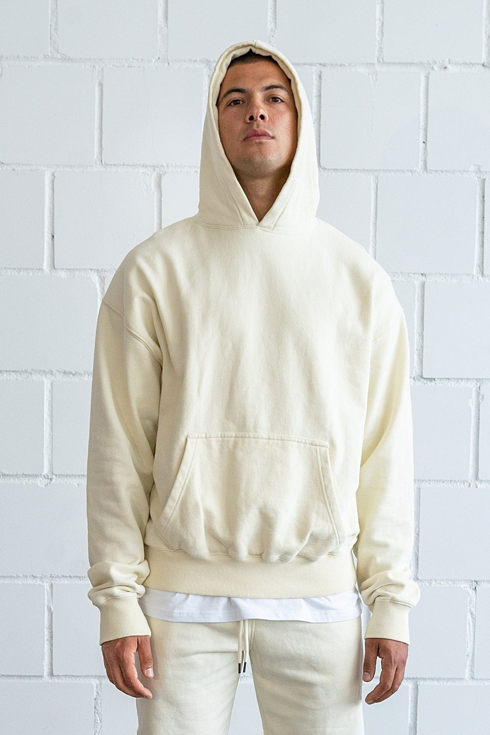 Heavy Oversized Hoodie Washed Vanilla