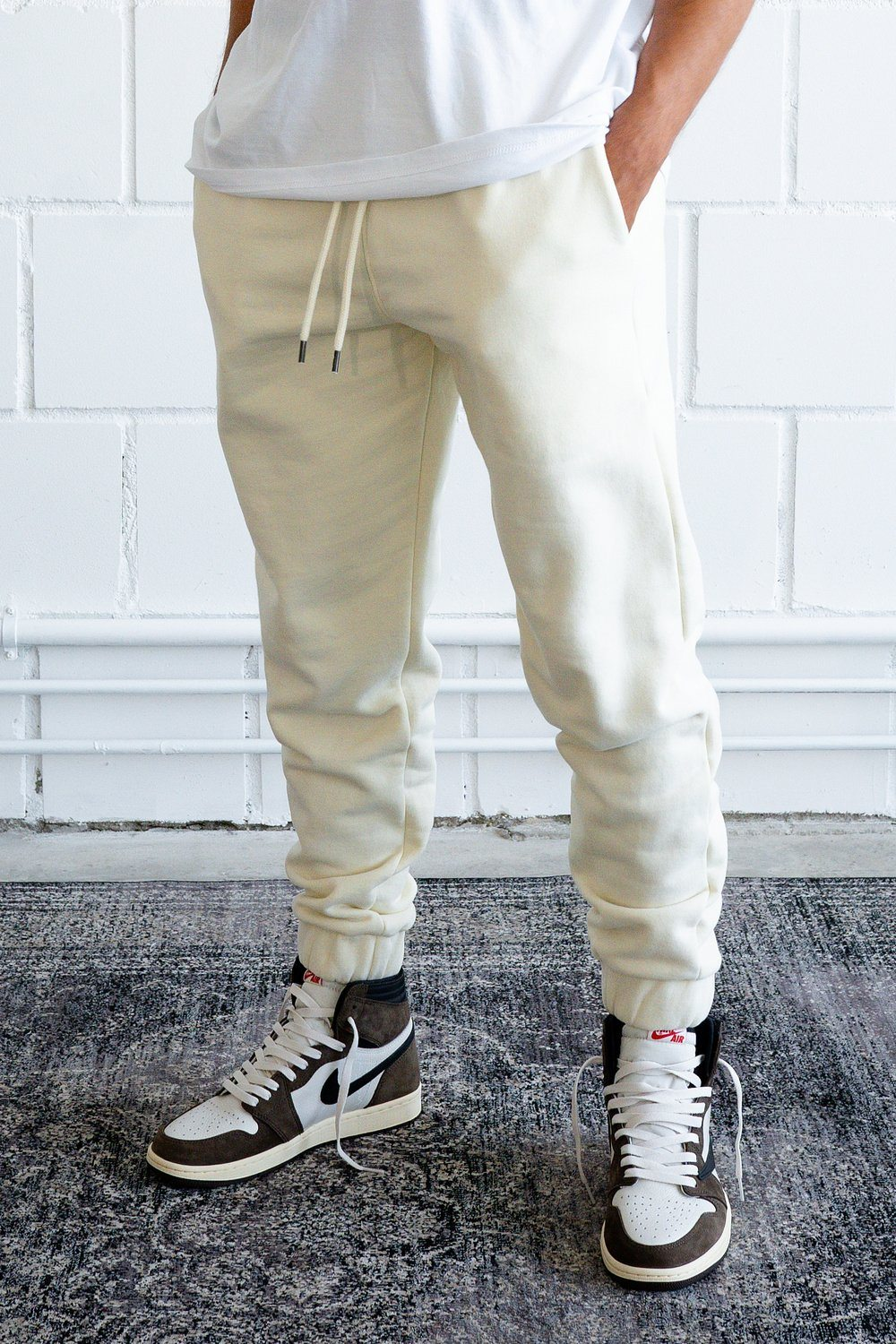 Heavy Sweat Jogger Washed Vanilla