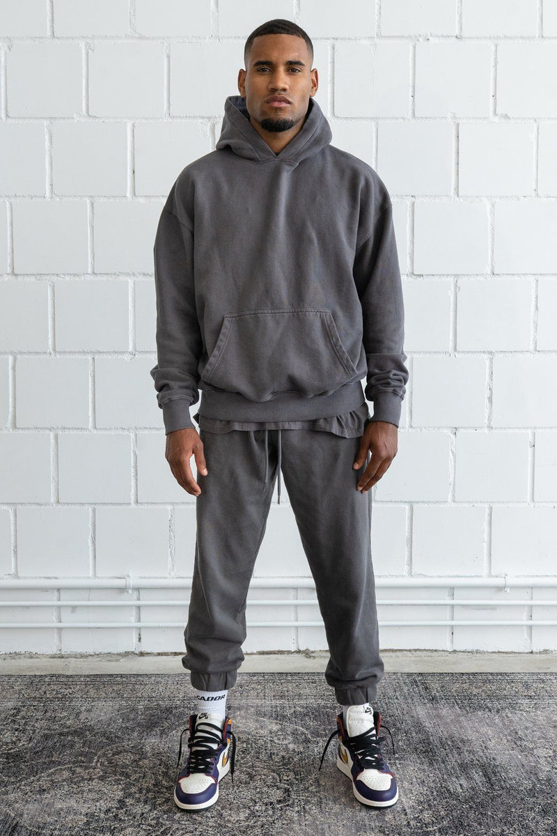 Heavy Oversized Hoodie Washed Grey