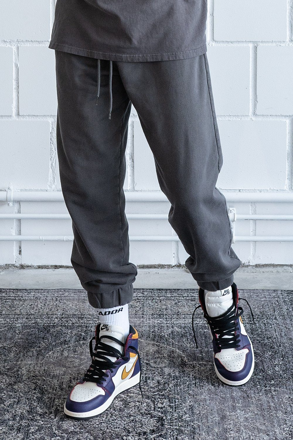 Heavy Sweat Jogger Washed Grey SWEAT PANTS PEGADOR