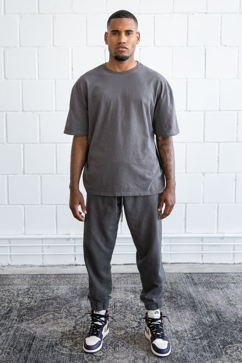 Basic Oversized Tee Washed Grey