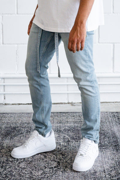 Mauro Relaxed Jeans Washed Light Blue
