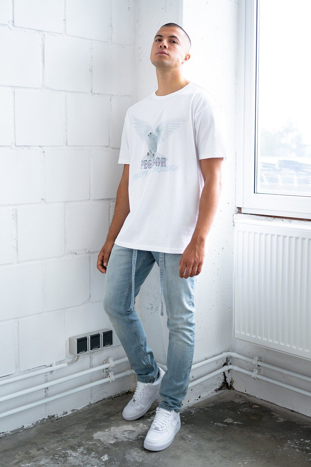 Freedom Oversized Tee White T-SHIRT PEGADOR