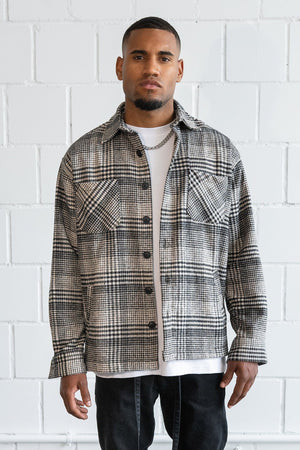 PEGADOR - Flato Heavy Flannel Shirt Earth - $69.95