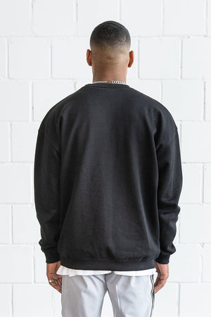 PEGADOR - Heavy Oversized Sweater Black - $49.95