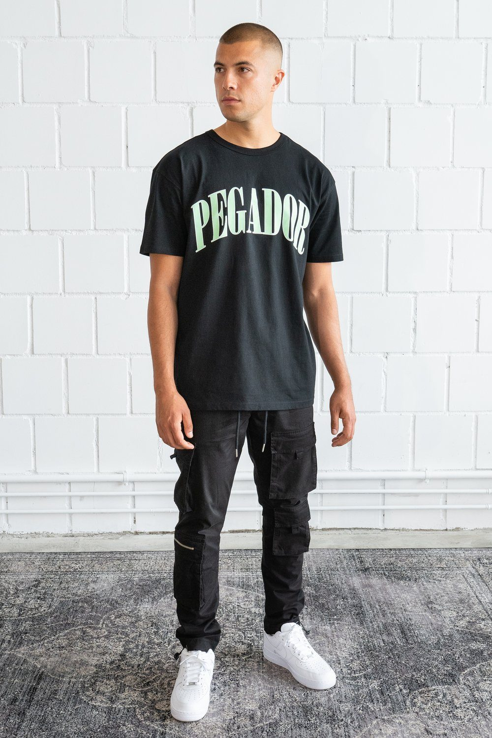 Cali Oversized Tee Black Mint T-SHIRT PEGADOR