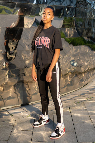 Cali Oversized Tee Washed Black Coral