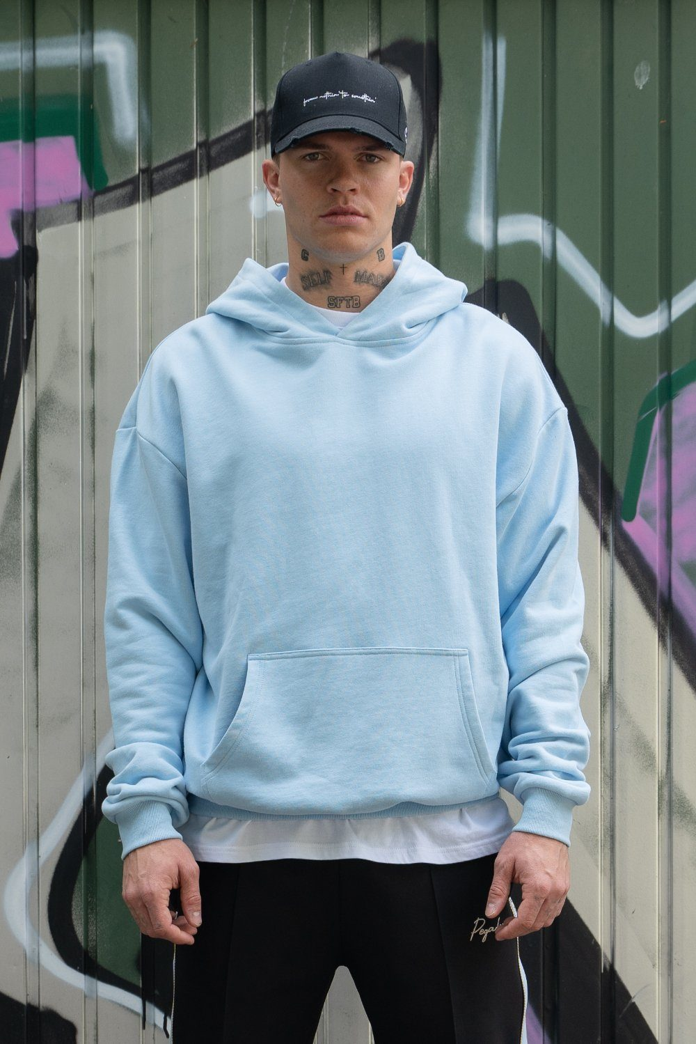 Heavy Oversized Hoodie Baby Blue
