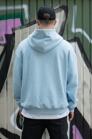 PEGADOR - Heavy Oversized Hoodie Baby Blue - $69.95