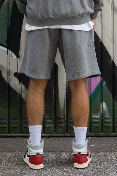 Heavy Sweat Shorts Washed Charcoal Grey