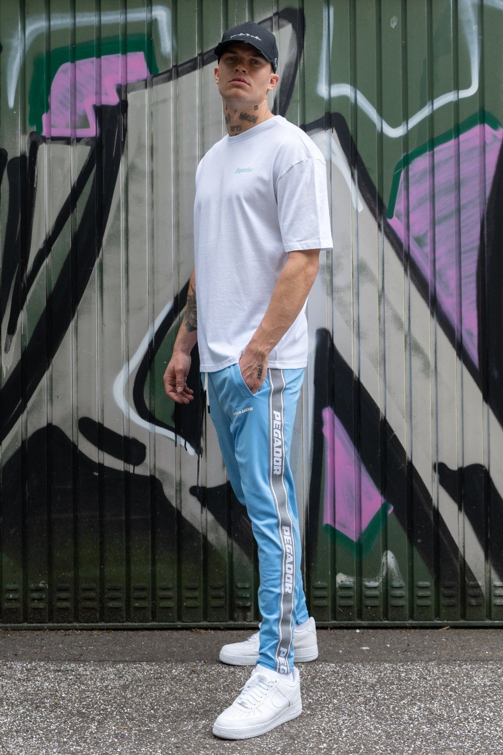 Logo Sweat Pants Baby Blue SWEAT PANTS PEGADOR