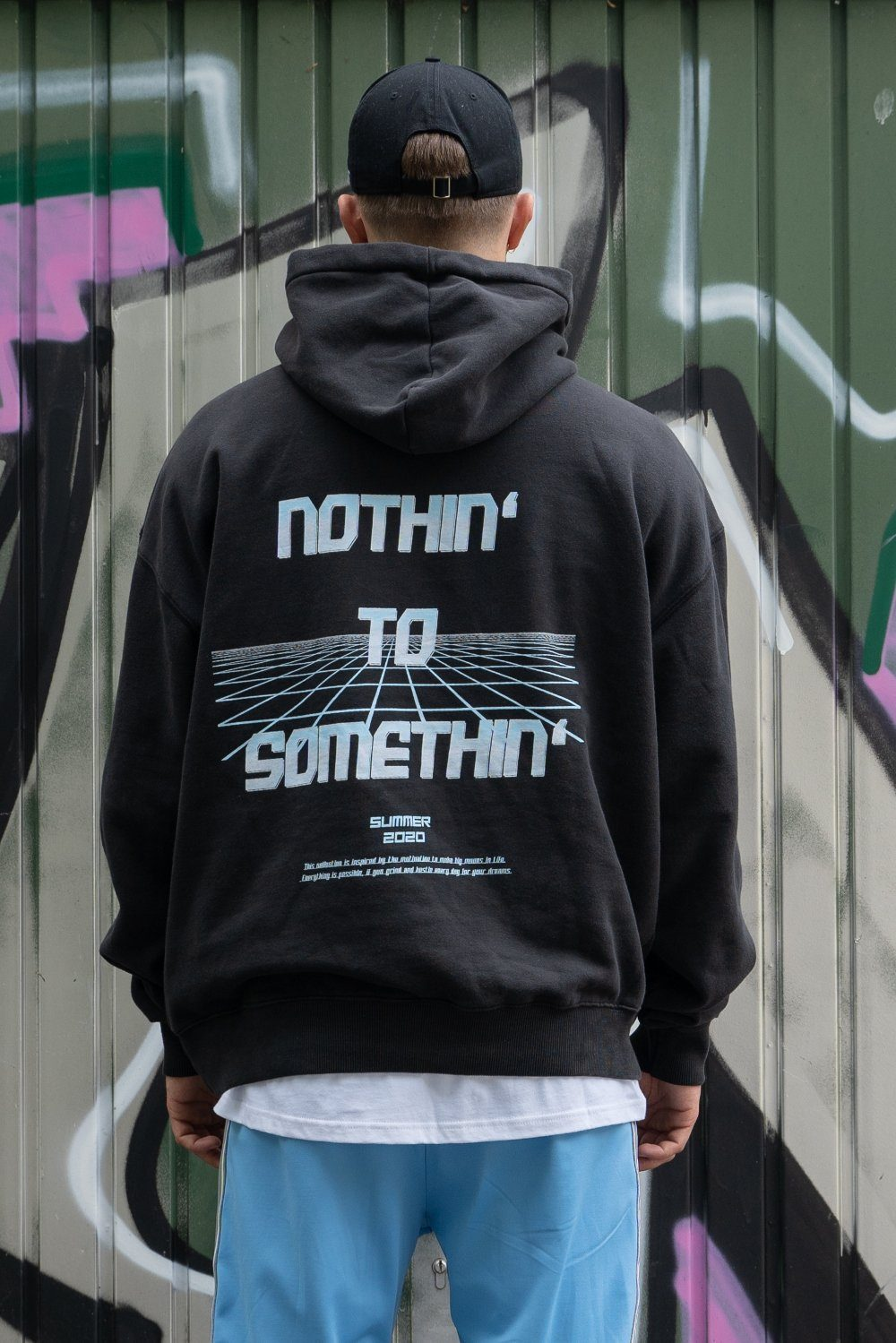 NTS Oversized Hoodie Washed Black