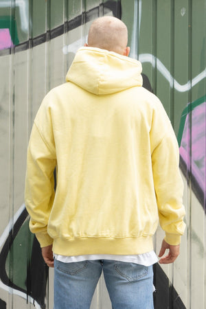PEGADOR - Heavy Oversized Hoodie Washed Lemon - $69.95