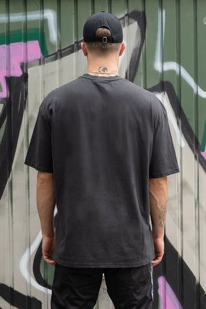 PEGADOR - Oversized Tee Washed Black - $29.95