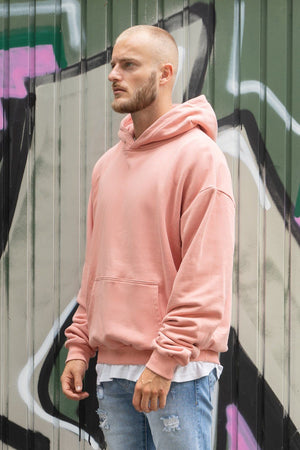 PEGADOR - Heavy Oversized Hoodie Coral - $69.95