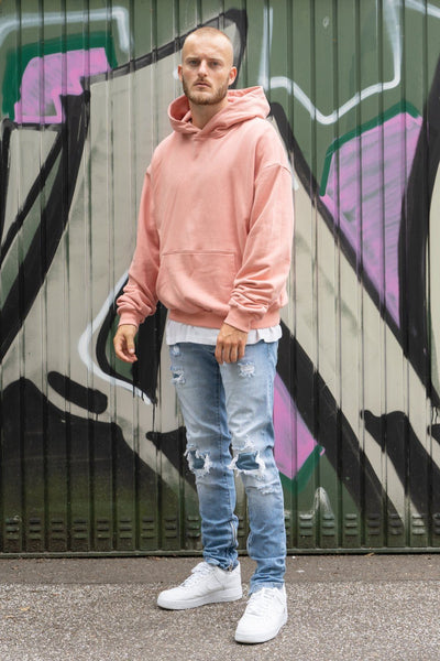 Heavy Oversized Hoodie Coral