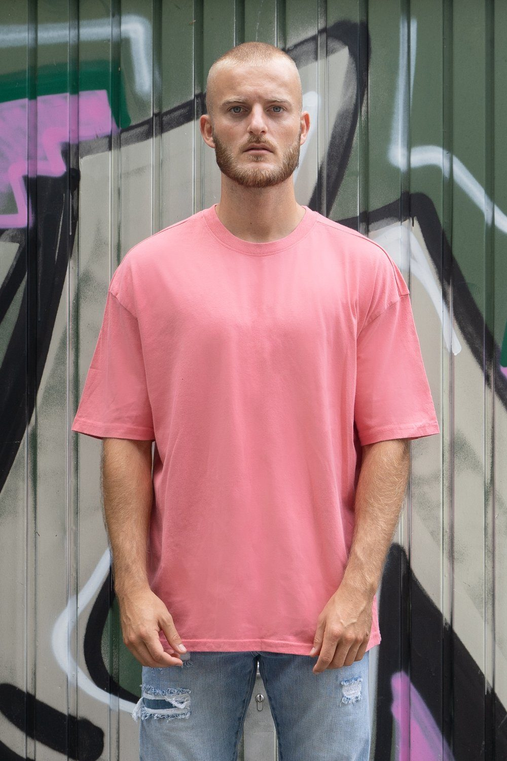 Oversized Tee Washed Strawberry
