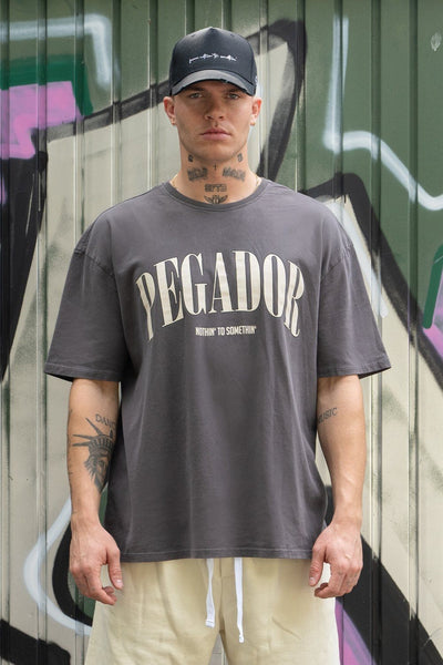 Cali Tee Oversized Tee Washed Grey Vanilla