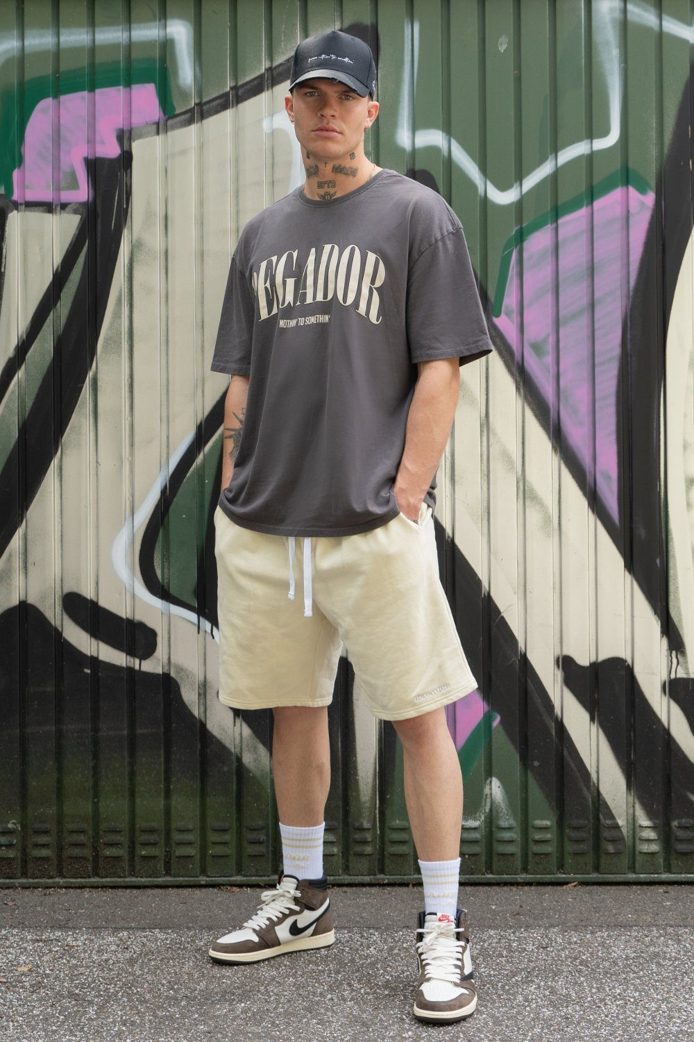 Cali Tee Oversized Tee Washed Grey Vanilla T-SHIRT PEGADOR