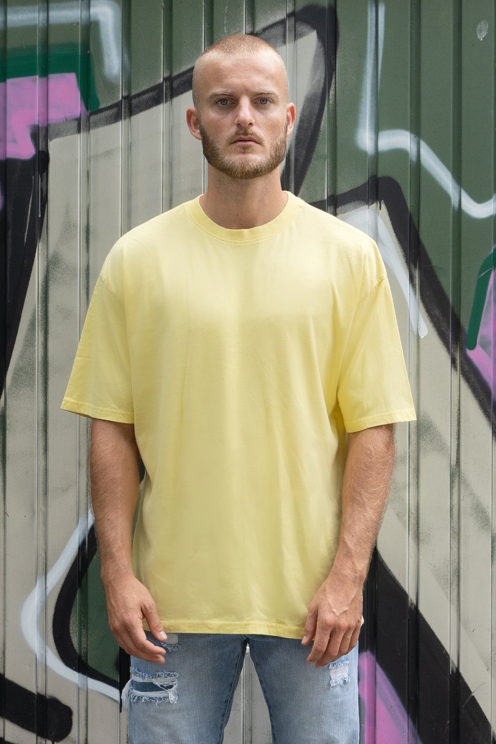 Oversized Tee Washed Lemon