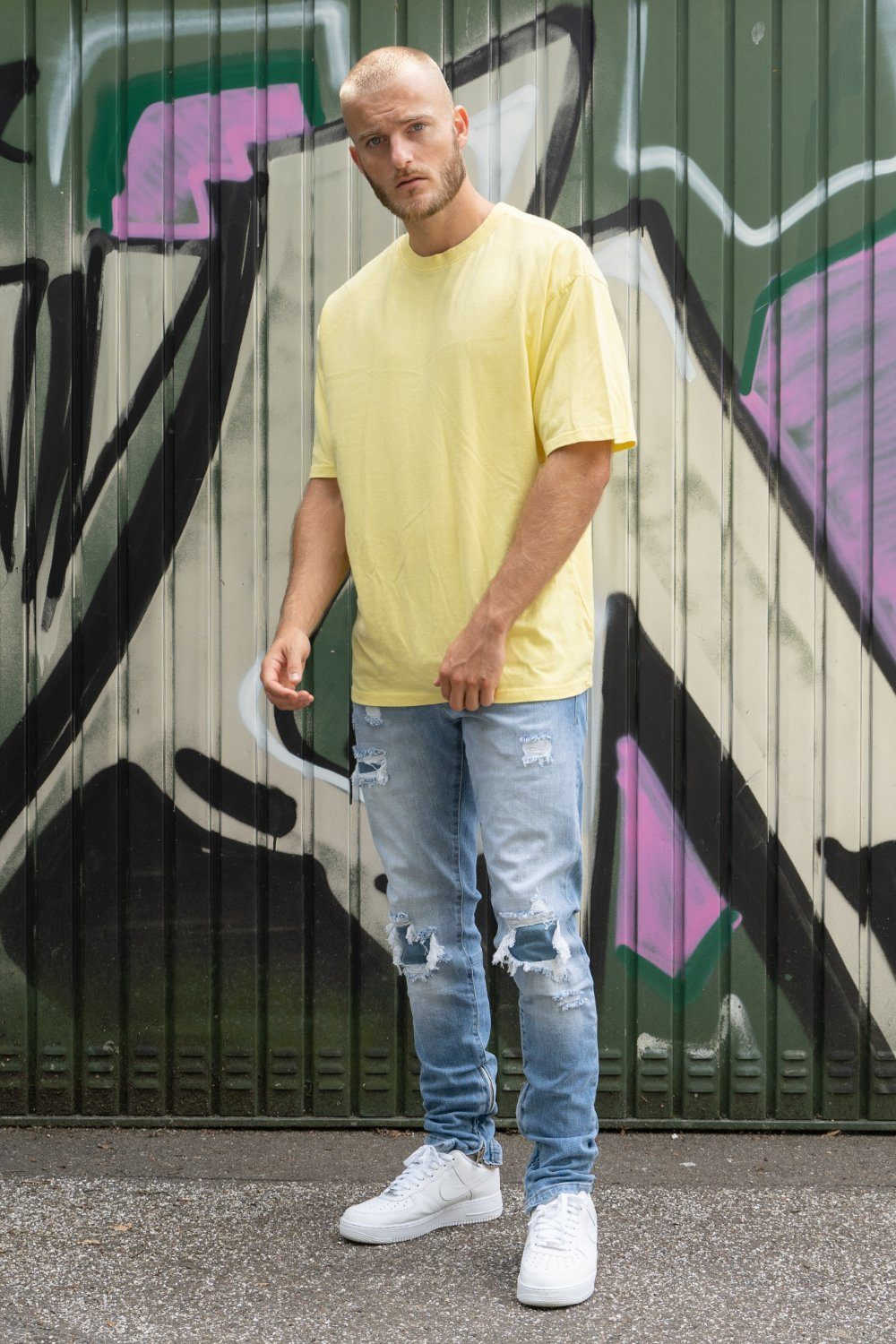 Oversized Tee Washed Lemon T-SHIRT PEGADOR