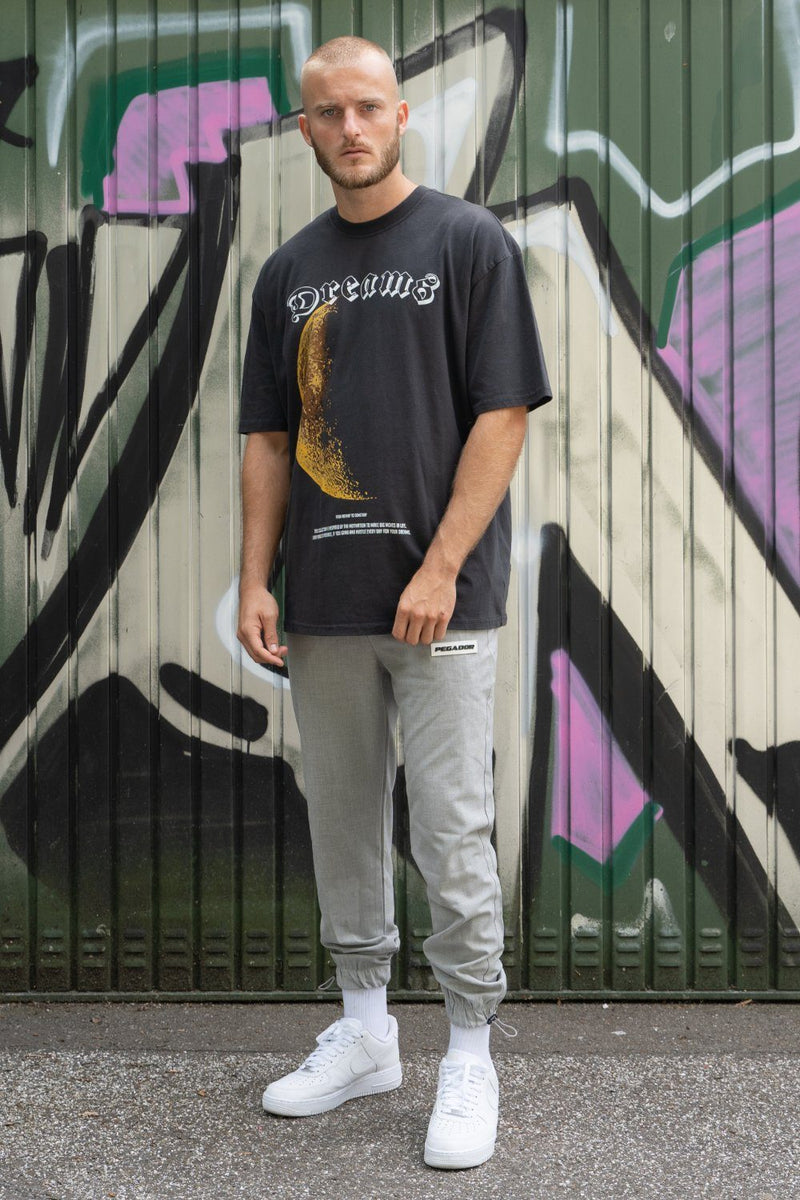 Macau Oversized Tee Washed Black